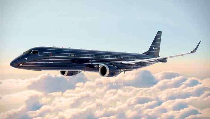 В Embraer создали премиальный бизнес-джет в стиле арт-деко