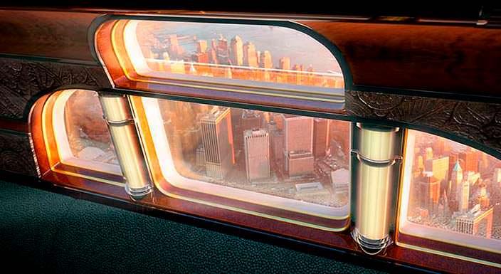 Чердачные окна в самолете Embraer в стиле Жан-Мишеля Франка