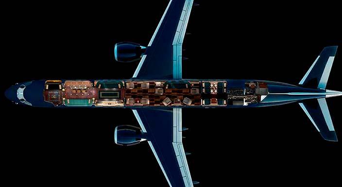 Manhattan: бизнес-джет в стиле арт-деко от Embraer