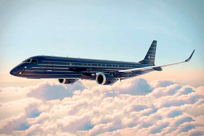 Фото | Бизнес-джет Manhattan от Embraer в небе