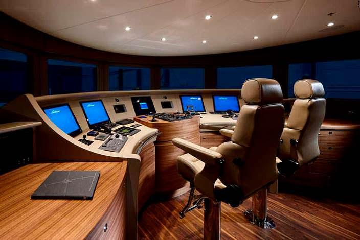 Фото | Капитанская рубка яхты Ruya от Heesen Yachts