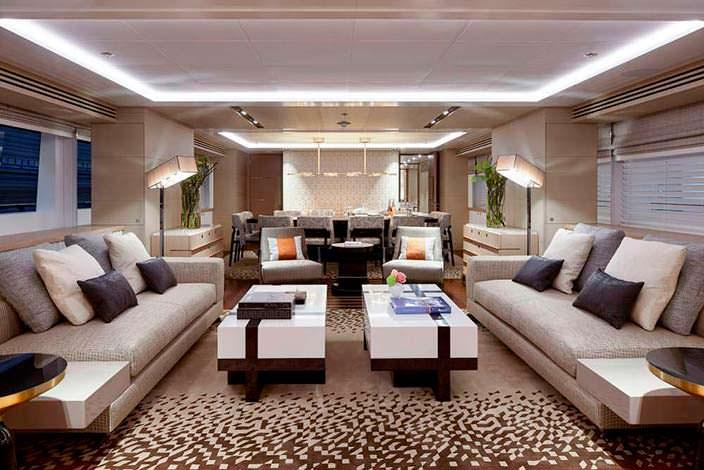 Фото | Комната отдыха на яхте Ruya от Heesen Yachts