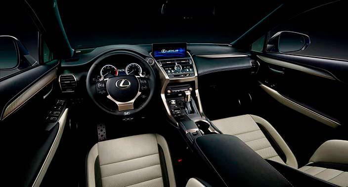 Фото салона Lexus NX. Обновление 2018 года