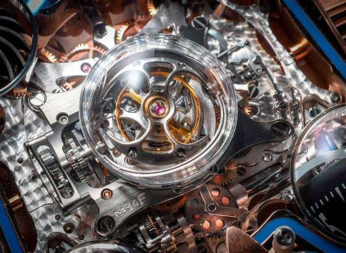 Фото | Турбийон под сапфировым куполом в часах MB&F HM6