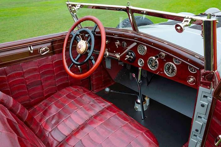 Фото | Крокодилья кожа в салоне Mercedes 680 S Torpedo Roadster