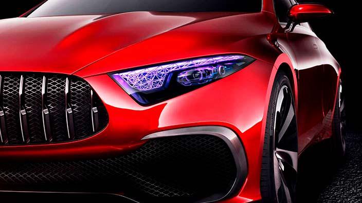 Светодиодные фары Mercedes-Benz Concept A Sedan 2017 года