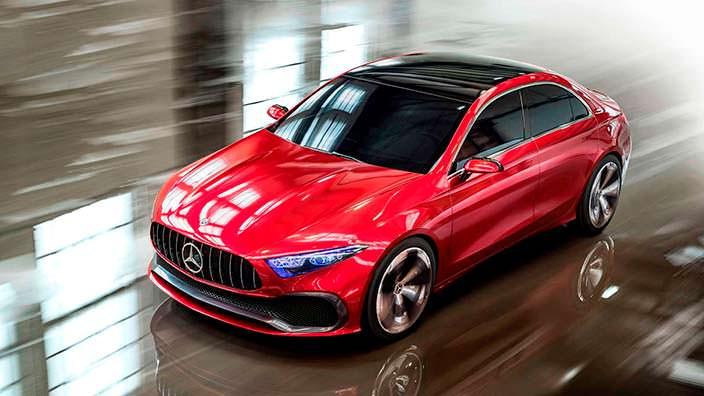 Новый Mercedes-Benz Concept A Sedan 2017 года