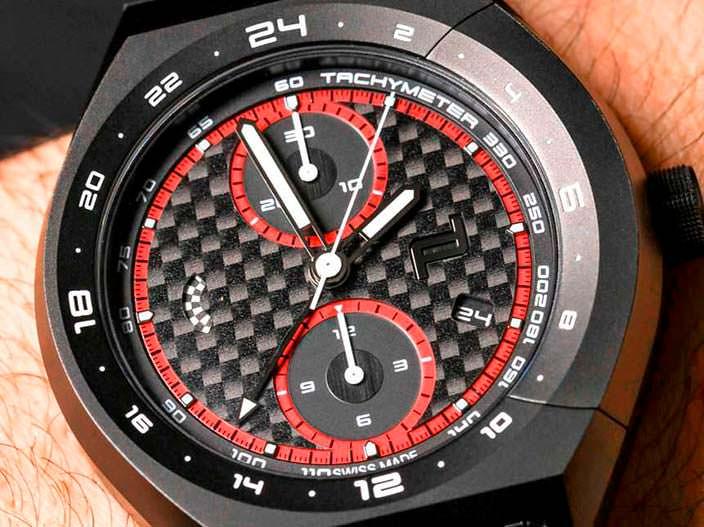 Карбоновый циферблат часов Porsche Design