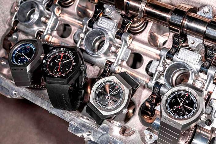 Часы Porsche Design и двигатель Porsche 911 RSR