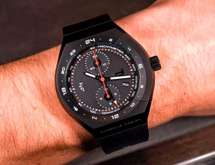Черные титановые часы Porsche Design