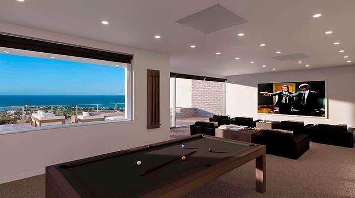 Фото | Дизайн игровой комнаты с бильярдным столом