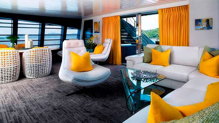 Фото | Дизайн столовой яхты The Ocean Emerald