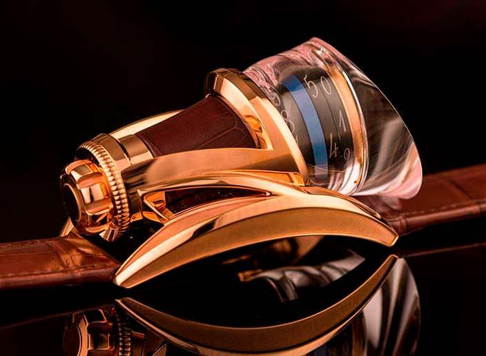 Капсульные золотые часы с турбийоном Anura Rafael Write Time