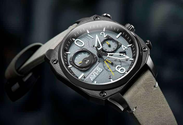 Авиационные часы из нержавеющей стали от Hawker Hunter
