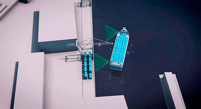Автономный контейнеровоз YARA Birkeland в Норвегии
