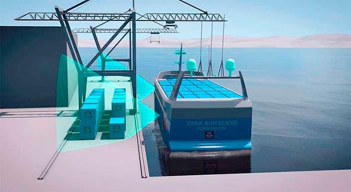 ВНорвегии создают 1-ый вмире электрический беспилотный корабль: появилось видео