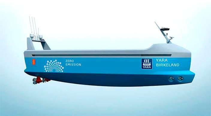 Автономный корабль-контейнеровоз начнет плавать в 2018 году