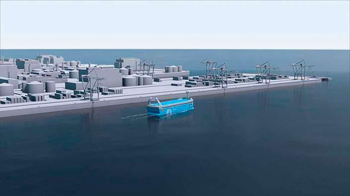 Автономный контейнеровоз YARA Birkeland на чистой энергии