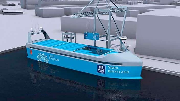 YARA Birkeland: первый в мире корабль с нулевыми выбросами