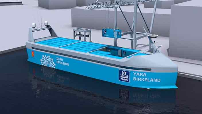 В Норвегии планируют использовать контейнеровозы с автопилотом