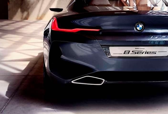 Дизайн сзади BMW 8-Series Coupe 2017 года