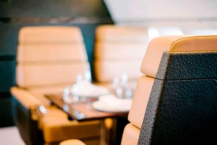 Фото | Салон бизнес-джета Boeing