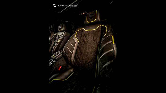 Кожаные сиденья в салоне Brabus G500 4x4² от Carlex Design