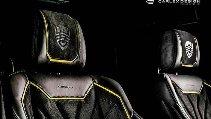 Логотипы Carlex Design на подголовниках Brabus G500 4x4²
