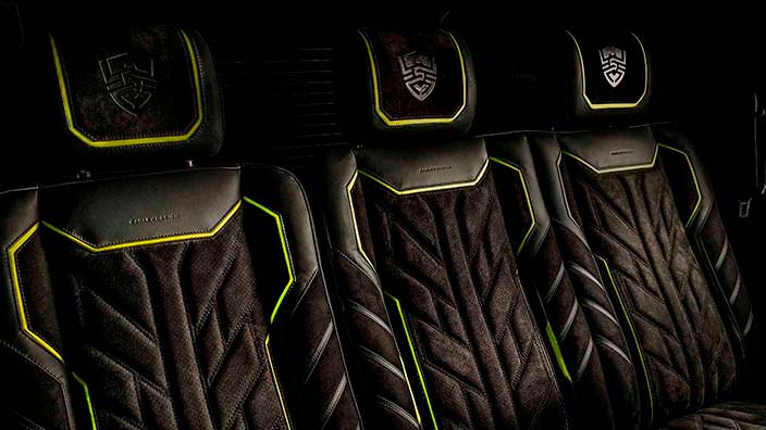 Сиденья сзади в салоне Brabus G500 4x4² от Carlex Design