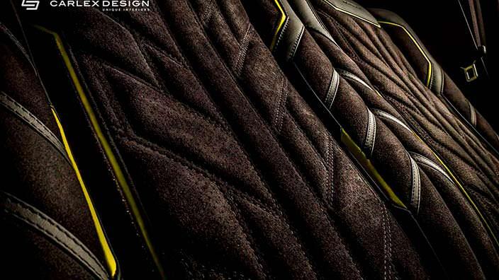 Рисунок сидений Brabus G500 4x4² от Carlex Design
