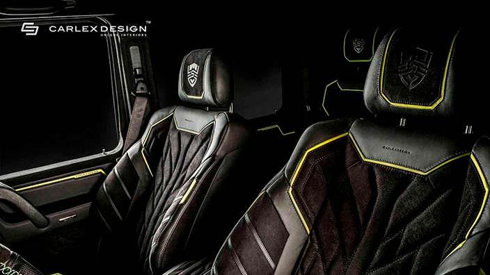 Сиденья в салоне Brabus G500 4x4² от Carlex Design