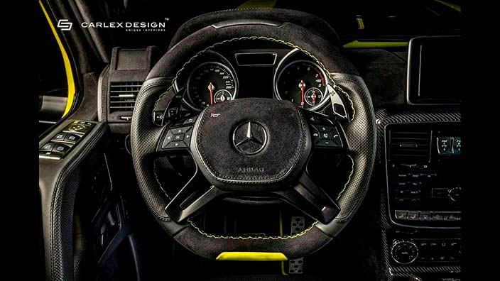 Кожаный руль Brabus G500 4x4² от Carlex Design
