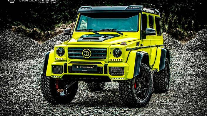 Жёлтый Brabus G500 4x4² от Carlex Design
