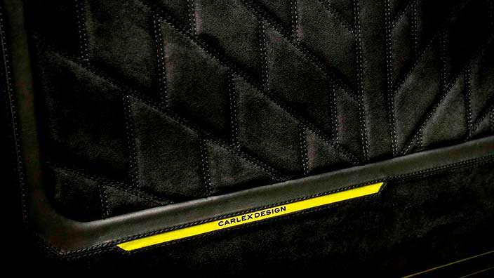 Ткань алькантара на сиденьях Brabus G500 4x4²