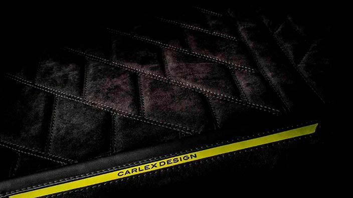 Черные сиденья с желтыми акцентами Brabus G500 4x4² от Carlex