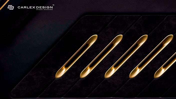 Позолоченные дефлекторы вентиляции в Mercedes Sprinter