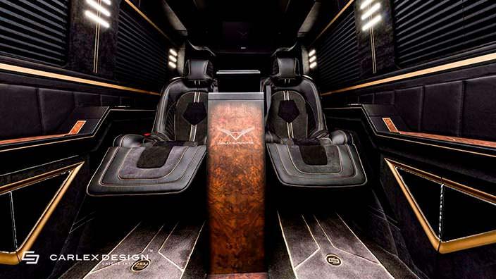 Кожаные сиденья в салон Mercedes Sprinter от Carlex Design
