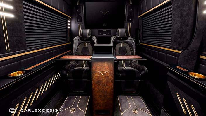 Шикарные сиденья в салоне Mercedes Sprinter от Carlex