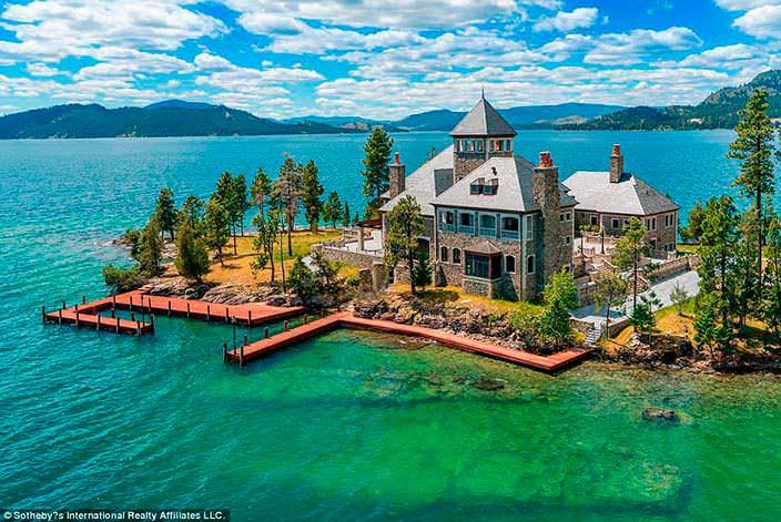 Фото | Дом на острове Шетлер в Монтане за $39 млн