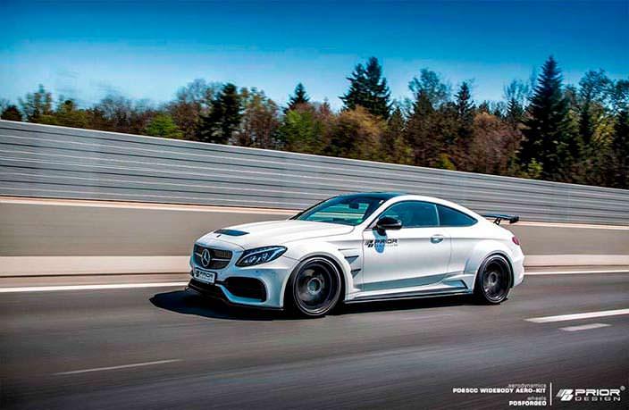 Аэродинамический обвес Mercedes-AMG C63 Coupe от Prior Design