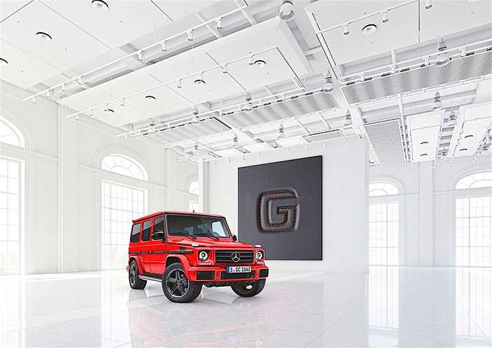 Фото   Красный Mercedes-Benz G-Class design manufaktur