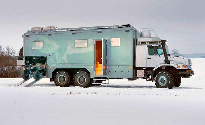 Экспедиционный дом на колесах Mercedes-Benz Zetros 6x6