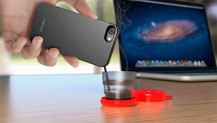 Чехол Mokase: портативный эспрессо-автомат в смартфоне