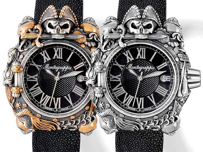 Серебряные пиратские часы Montegrappa Pirates