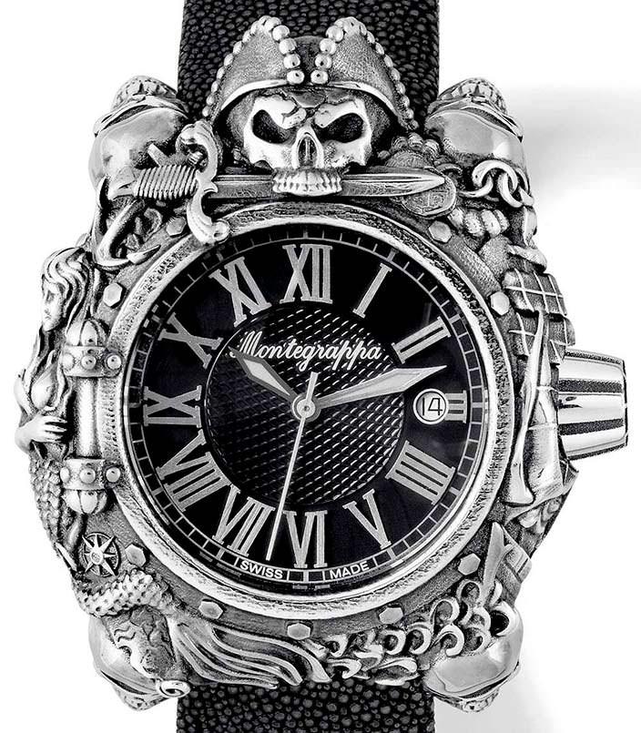 Серебряные часы Montegrappa Pirates: цена $4 200