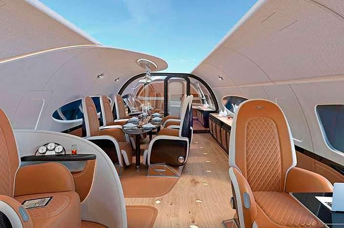 Бизнес-джет Airbus Infinito от Pagani