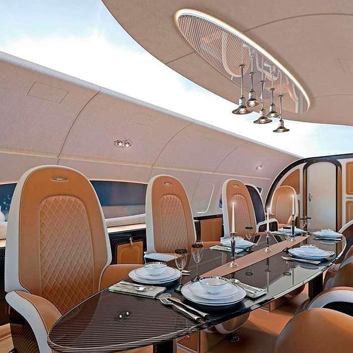 Бизнес-джет Airbus Infinito от Pagani на базе ACJ319neo