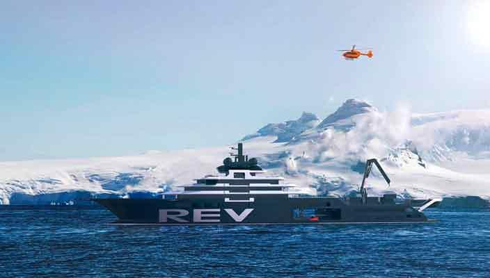 Самая большая яхта REV