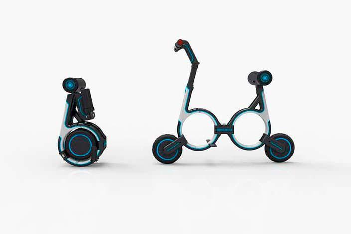 Электро-велосипед Smacircle S1: в сложенном и разложенном виде