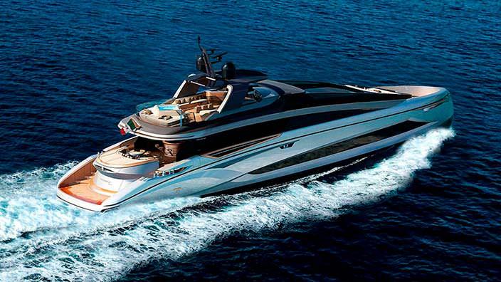 Яхта в стиле хай-тек Tecnomar Evo 115 от Italian Sea Group